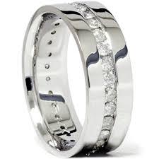 Mens 1 1 10ct Diamond Eternity Comfort Wedding Band 14k White Gold