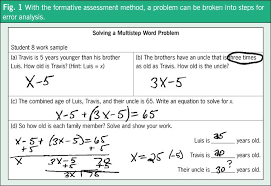 they developed an exit ticket breaking one word problem into four steps see fig 1
