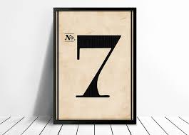 number 7 wall art