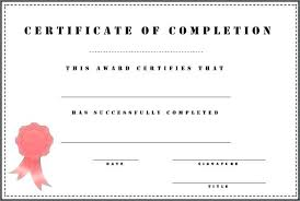 Work Completion Form Template