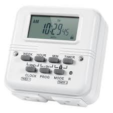 Dual Light Timer Astroai Digital Dual Light Timer Outlet 7 Day Programmable