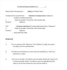 Office Space Sublease Agreement Template Commercial 9 Lease Sample ...