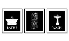 bathroom wall art trio bathroom rules bathe wash flush typography art prints vintage bathroom wall decor you choose colors on wall art prints for bathroom with 56 best bathroom wall art images on pinterest bathroom wall art