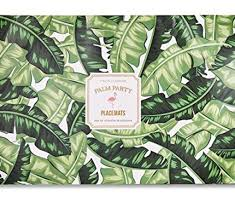 Palm Leaf Pattern Classy Two's Company 48 Sheet Palm Leaf Pattern Paper Placemat Le Cookery USA