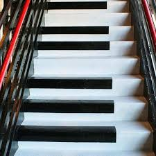 painted basement stairs. Painted Stairs Ideas Black Piano Key Themed Design For  Basement M