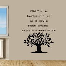 wall decal family art bedroom decor family tree wall decals quote floral tree branches vinyl decal sticker living room interior design home art mural nursery room decor kg