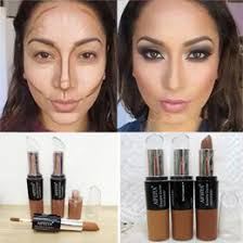 contour makeup kit for dark skin. wholesale-hot maquiagem contorno long-lasting brozen make up waterproof concealer stick face contour kit highlighter dark skin makeup cheap for