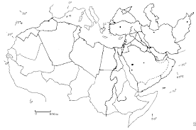 North Africa And The Middle East Blank Map M
