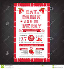 Free Christmas Party Templates Invitations Christmas Restaurant And Party Menu Invitation Stock Vector 16