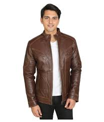 c comfort brown leather jacket c comfort brown leather jacket at best s in india on snapdeal