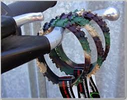 Ride On Camo Knobby Dirtbike Tire Wristband Sports