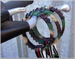 Ride On Camo Knobby Dirtbike Tire Wristband Sports