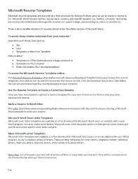 Free Printable Resume Templates Microsoft Word Professional Clean Resume Free Resume Templates For Word