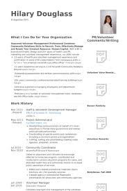 Volunteer Resume Delectable Volunteer Resume Samples VisualCV Resume Samples Database