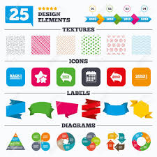 Creative Charts For School Offer Sale Tags Textures And Charts Back To School Icons Studies