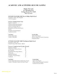 Resume For College Application Template 13 Things You Grad Kaštela