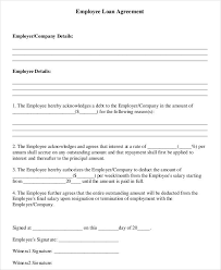 Company Loan To Employee Agreement Free 35 Loan Agreement Forms Pdf