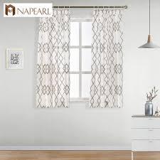 Napearl Bereit Maß Kurze Fenster Vorhänge Für Schlafzimmer