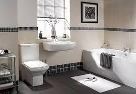 Bathroom Decorating Ideas For Guys With Elegant White Bathtub Design And Modern Gray Ceramic Flooring Idea