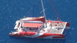 Dream Catcher Boat Santorini Catamaran Caldera Cruise with Barbecue Santorini Island Expedia 3