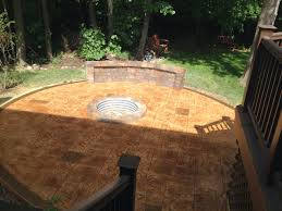 stamped concrete patio in rochester hills mi
