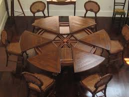 dining tables astounding rustic round table for 8 farmhouse large round italian champagne leaf