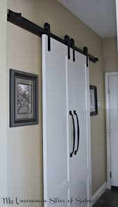 create barn doors to maximize e for the laundry room