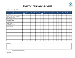 Daily Weekly Monthly Cleaning Schedule E Excel Office