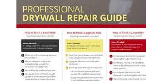 how to repair drywall professional
