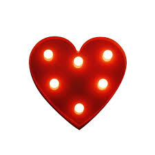 Kids Red Night Light Brelong 3d Warm White Kids Room Night Light Christmas Wedding Decorative 4 5v Heart No Battery