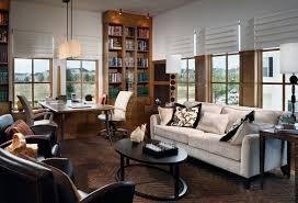 office idea. Elegant Home Office Ideas With Long White Sofa And Stylish Black Oval Coffee Table Idea