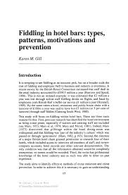 fiddling in hotel bars types patterns motivations and inside