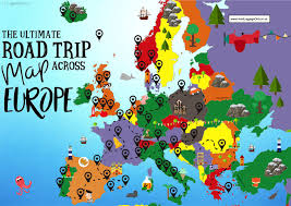 Animated Travel Map The Complete Europe Road Trip Map 49 Places To Visit And