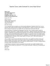 Teaching Cover Letter Examples Teacher Cover Letter Cover Letter For Substitute Teaching Example 19