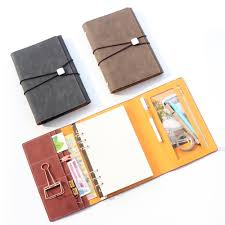 2019 Domikee Classic Vintage Leather Office School Spiral Notebooks Stationery Supplies Fine Bandage Binder Agenda Planner Organizer From Anzhuhua