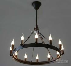 round candle chandelier brilliant 12 light retro spanish rustic chain french ceiling porch intended for 1
