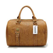 Coach Embossed Medium Brown Luggage Bags 301