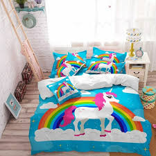details about unicorn bedding set for bedroom duvet cover and pillowcase full twin queen size