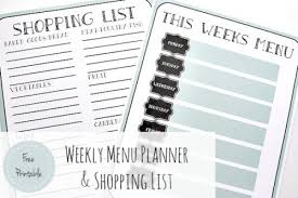 Free Weekly Meal Planner With Grocery List Weekly Menu Planner Shopping List Free Printable