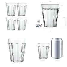 clear plastic cup 8 drinking glasses water restaurant tumblers oz durable acrylic