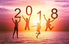 new year 2018 quote with beach wallpaper hd