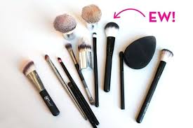 how to clean makeup brushes what not washing your makeup brushes for a month looks like how to clean makeup brushes