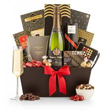 chagne gift baskets bubbly chocolate