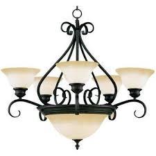 pacific 7 light cky bronze chandelier with wilshire