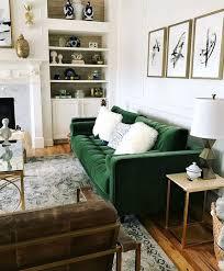 green sofa living room