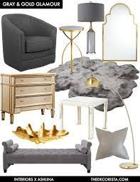 Color Crushing: decorating with gray and gold for glamour | style ...