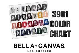 Bella Color Chart Bella 3901 Sponge Fleece Raglan Sweatshirt Color Chart