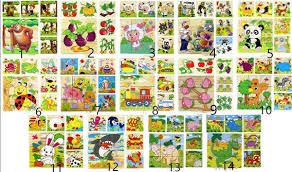 14 Style <b>High Grade Six Face</b> Picture Wooden Jigsaw 3D Puzzle ...