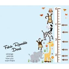 Wild Animals Safari Pride Height Wall Chart Decal