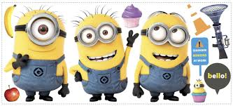 Minions Bedroom Wallpaper Amazoncom Despicable Me 2 Movie Minions Giant Wall Decals 12x48